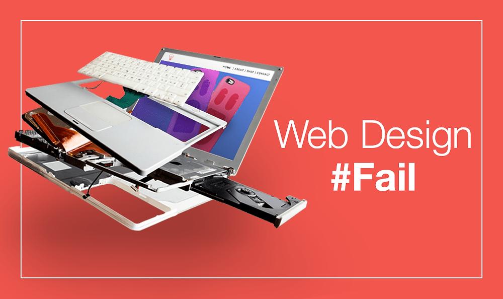 8 Erros Comuns de Web Design Para Você Evitar em seu Site