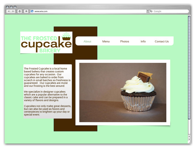 Wix Website Showcase: The rosted Cupcake Bakery Cupcakes