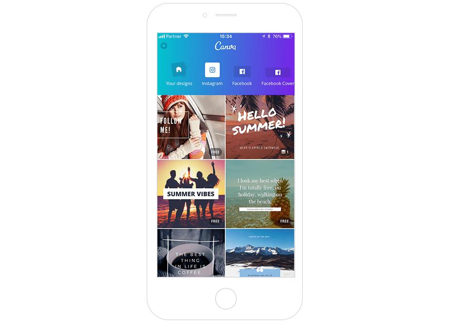 Melhores Ferramentas de Instagram para seu Negócio: Canva