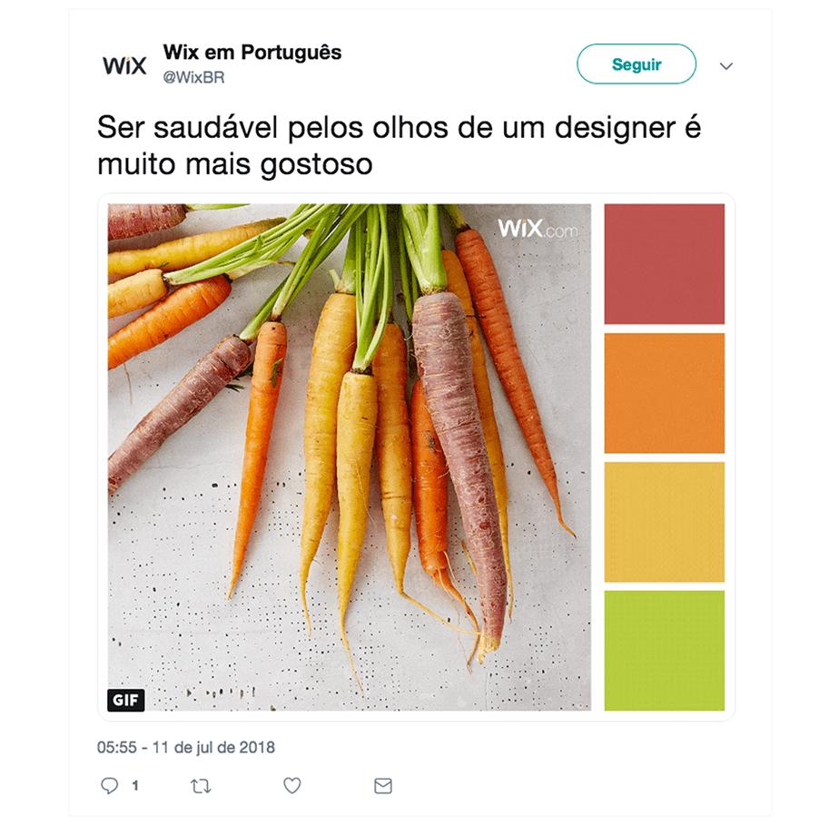 Exemplo de Post para Twitter