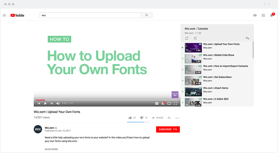 How to upload your own fonts to Wix