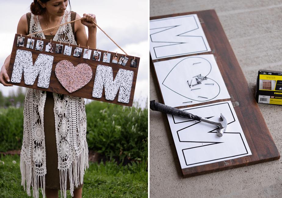 Last Minute Mother's Day Gift Ideas: Pinterest Inspired String Art