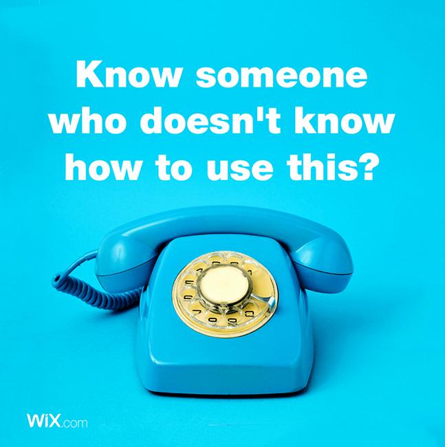 Wix social ideas: know someone