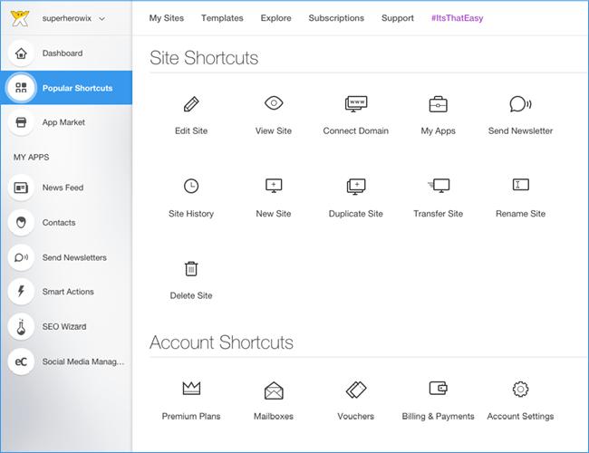 Popular Shortcuts
