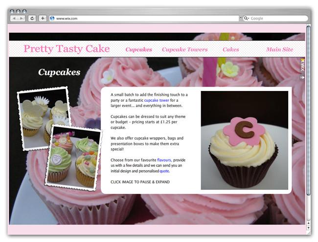 Wix Website Showcase: Pretty Tasty Cake