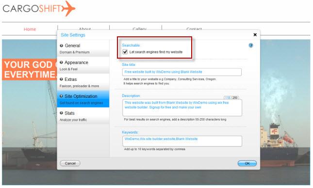 Wix Site Optimization- Searchable