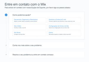 Como Entrar em Contato com o Suporte do Wix