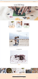 Template Wix Blog de estilo de vida para mães