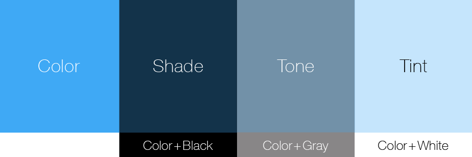 How To Choose The Perfect Color Palette - Tones, Tints & Shades