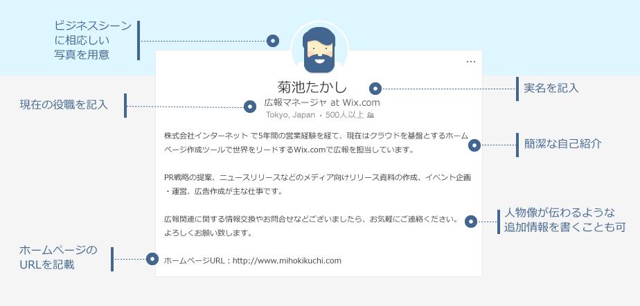 LinkedInプロフィール作成例