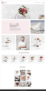 ケーキショップ向けホームページテンプレート