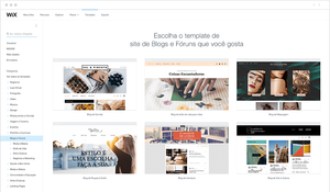 Templates Wix para Blogs