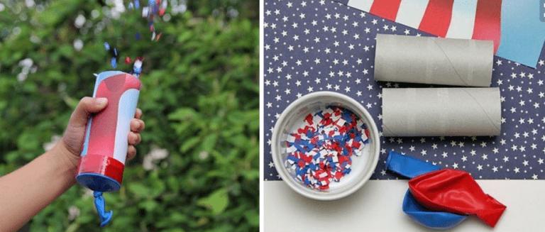 July 4th DIY Confetti Popper