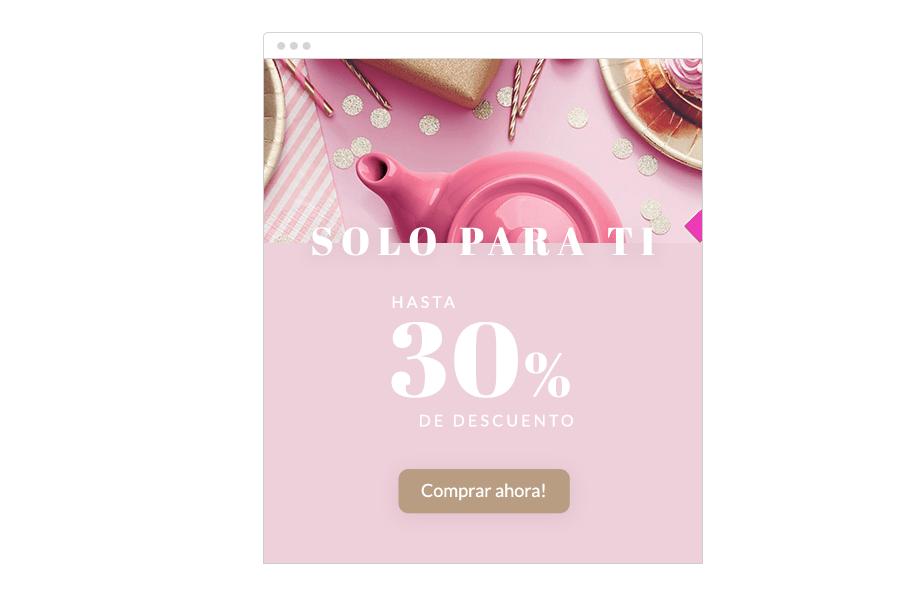 Estrategia de marketing: cupón de descuento personalizado