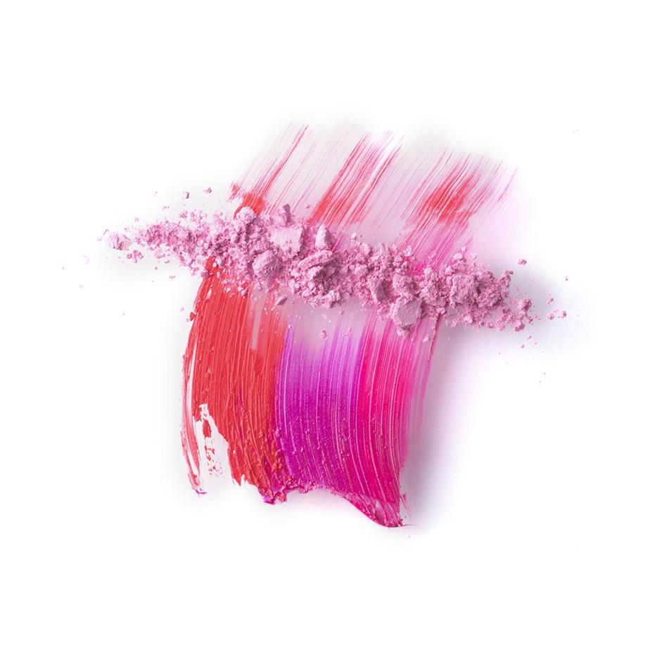broken colorful powder makeup