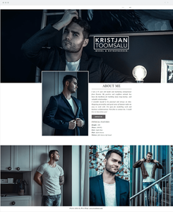 Site Wix do Modelo Kristjan Toomsalu