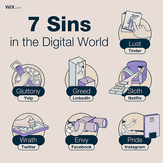 Wix social ideas: X ways, X sins, X tips