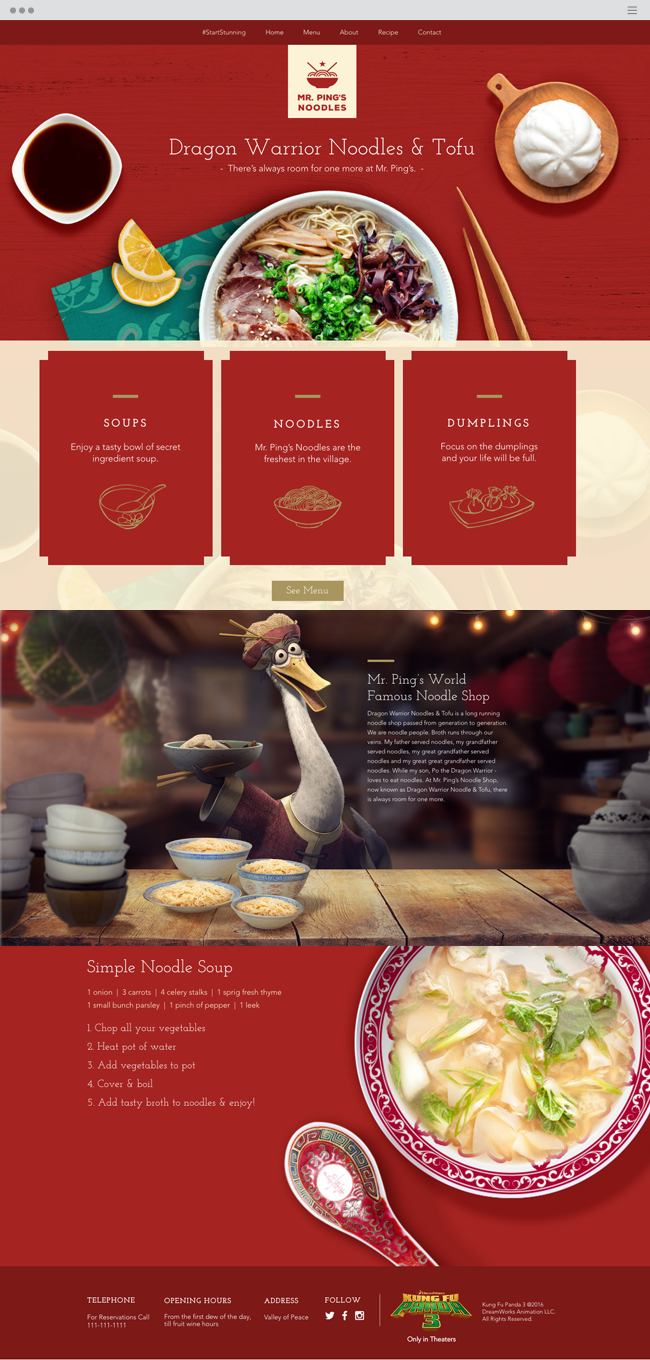 Mr. Ping's Noodles Official Wix Website