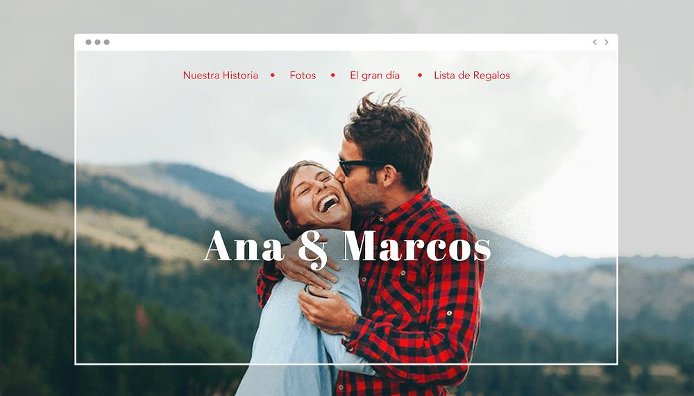 Crear una web de eventos para una boda