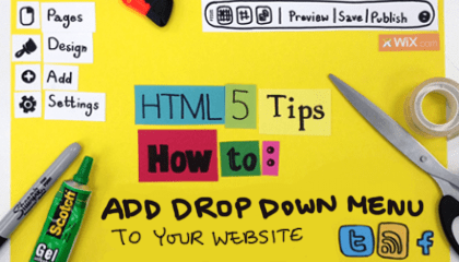 How to Add a Drop-down Menu to your HTML5 Website