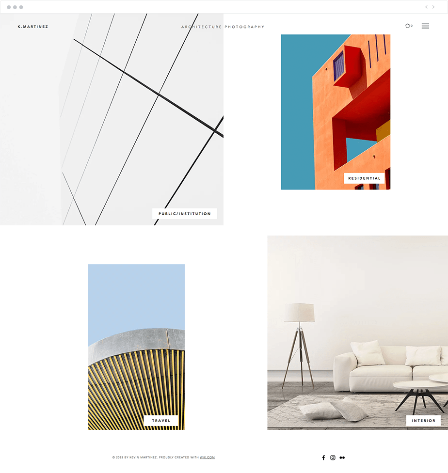 architecture photography website template