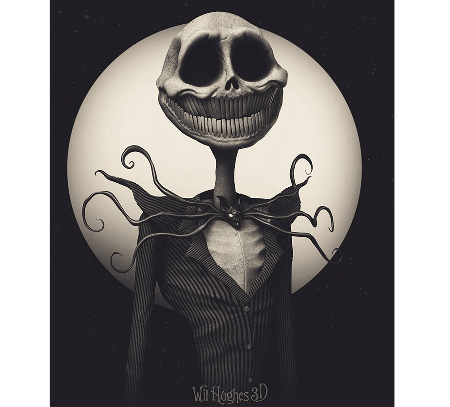 Horror Version of Jack Skellington by Wix User Wil Hughes