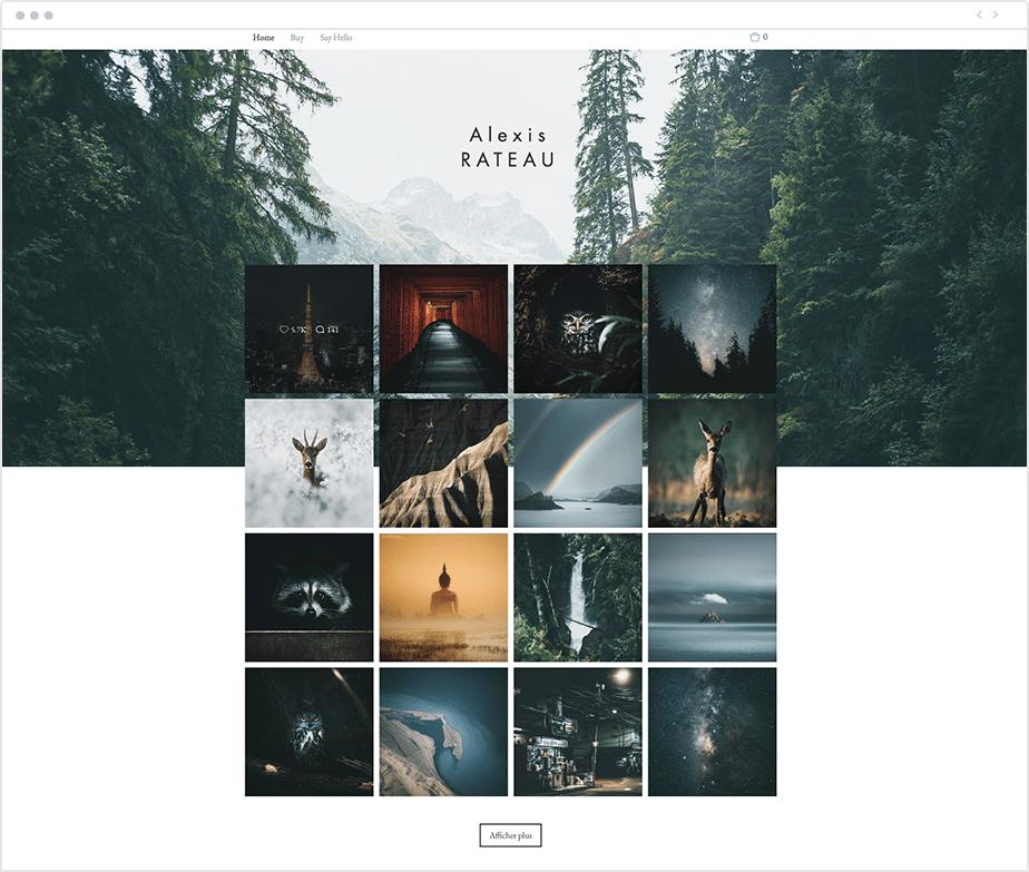 aesthetic Instagram feed as portfolio
