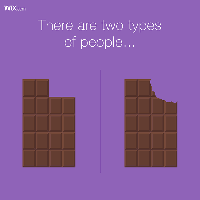 Wix social ideas: two types of people