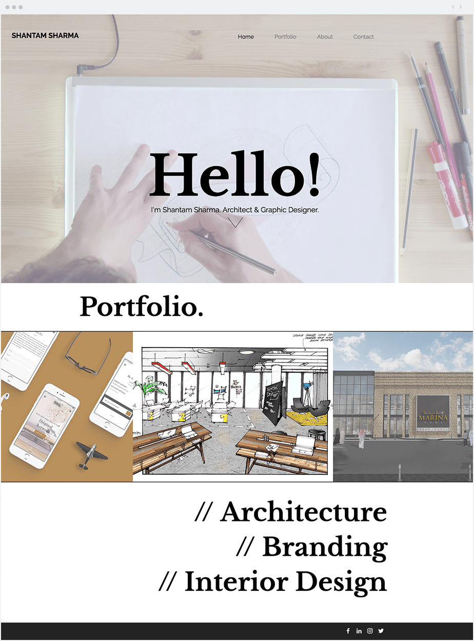 Shantam Sharma - Architect & Graphic Designer