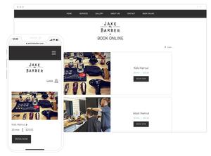 Site de serviços adaptado ao mobile