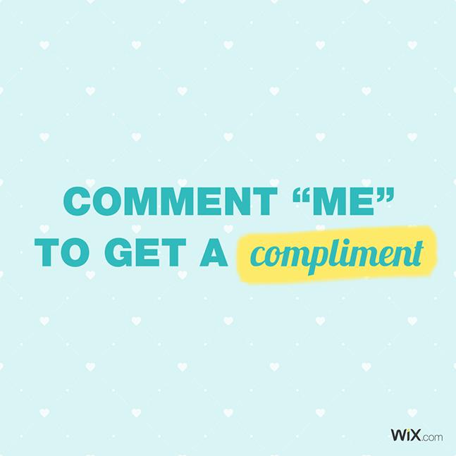 Wix social ideas: comment me