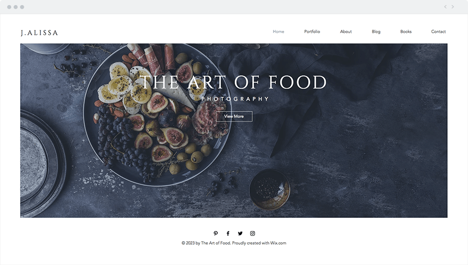 Wix Template - Food Photographer
