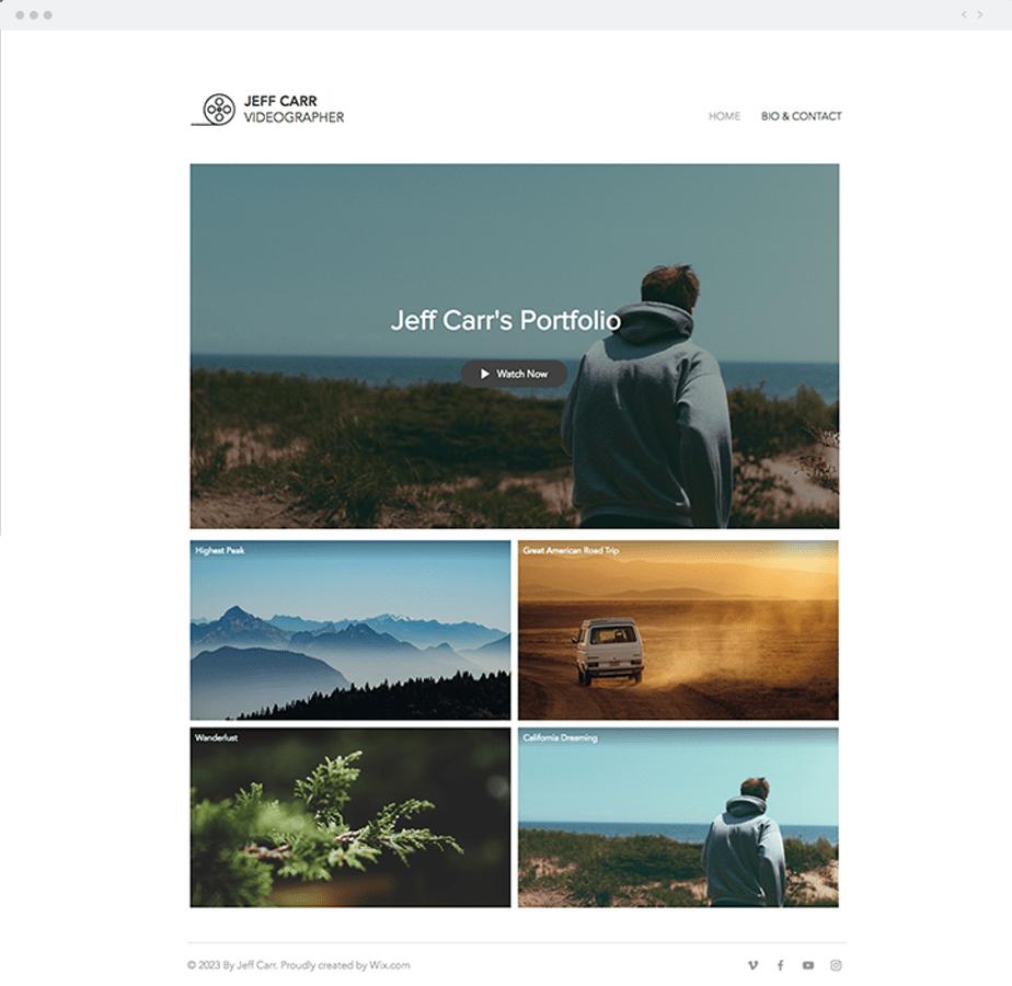 Template para cinegrafistas: Video Portfolio