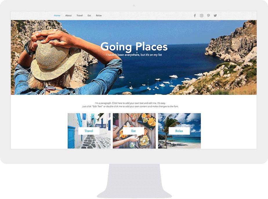 Desktop screen showing beautiful websites