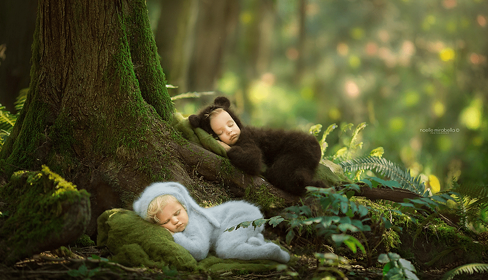 Cute picture of babies sleeping by Wix photographer Noelle Mirabella