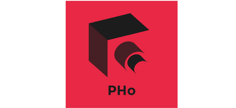 Negative-space logo