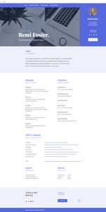 Plantilla para página web de CV de etudiantes