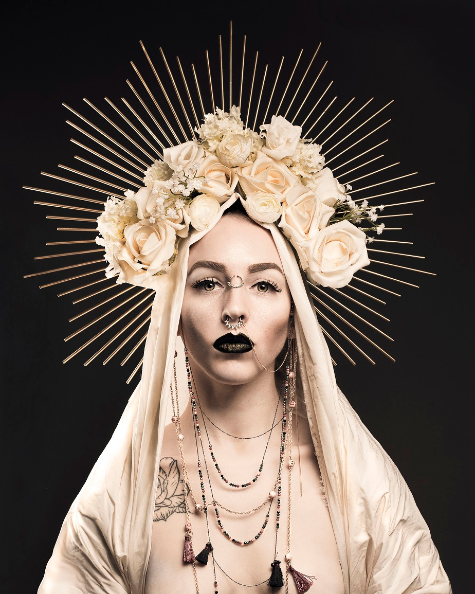 self-portrait as mary magdalene by photographer Juliette Jourdain