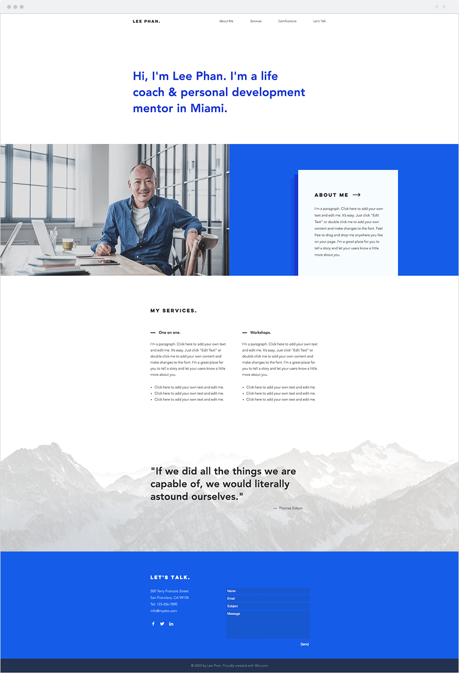 Wix Website Templates: Business Coach