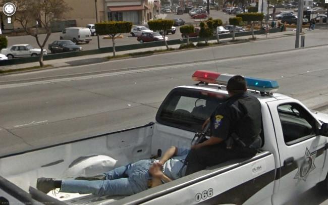 Weird Google Street View: Arrested Man