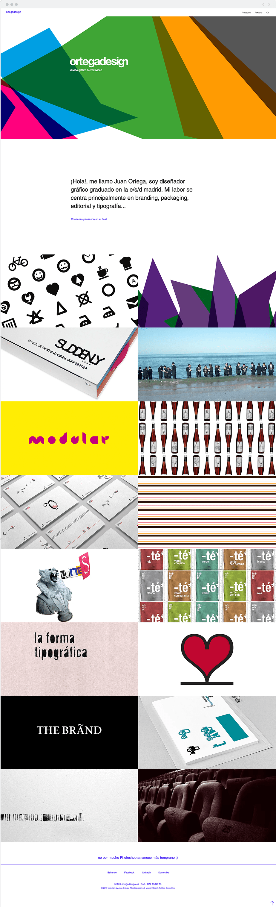 8 Site Wix Incríveis com um Toque de Criatividade Latina: Ortega Design