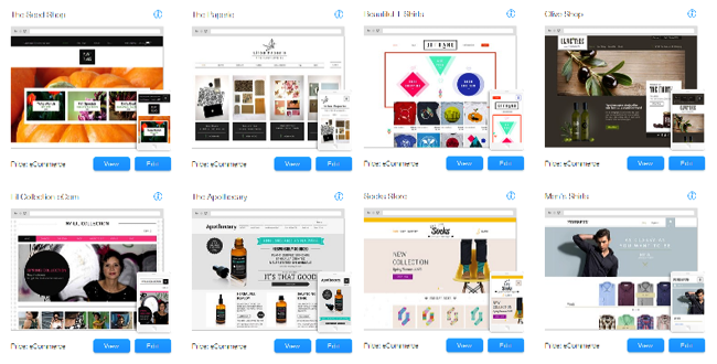 Templates de eCommerce do Wix