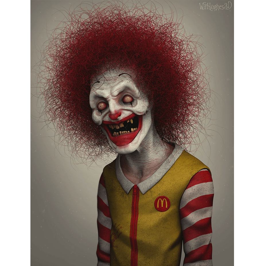 Horror Version of Ronald McDonald by Wix User Wil Hughes
