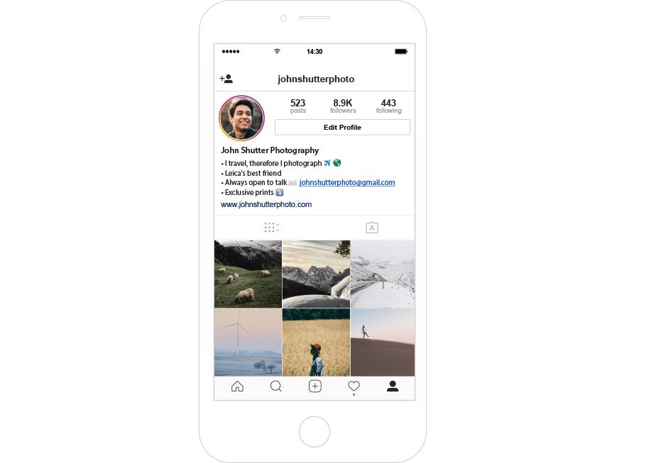 photographer instagram feed
