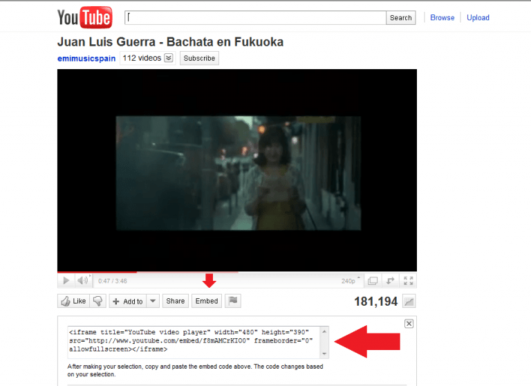Embed your video