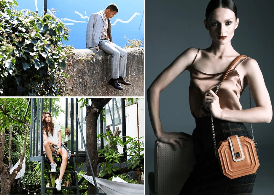 fashion portraits on nature environments and studio portrait