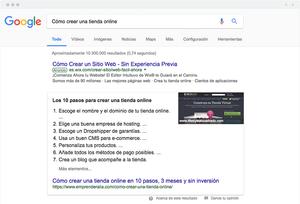 Pieza destacada en la SERP de Google