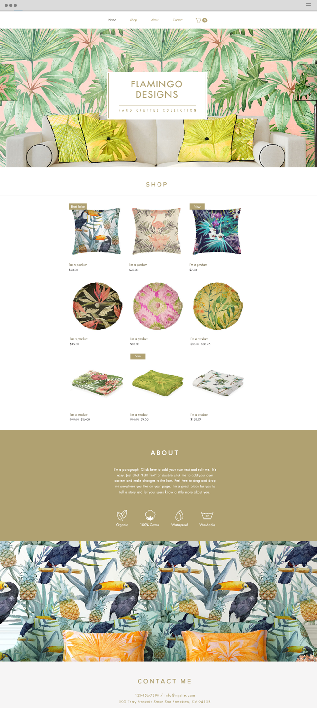 Home Accessories Website Template