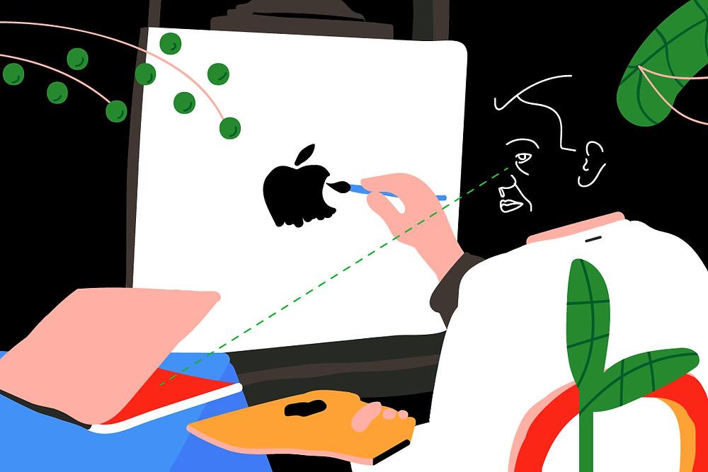 Iconic logo designs illustration by Alma Neeman