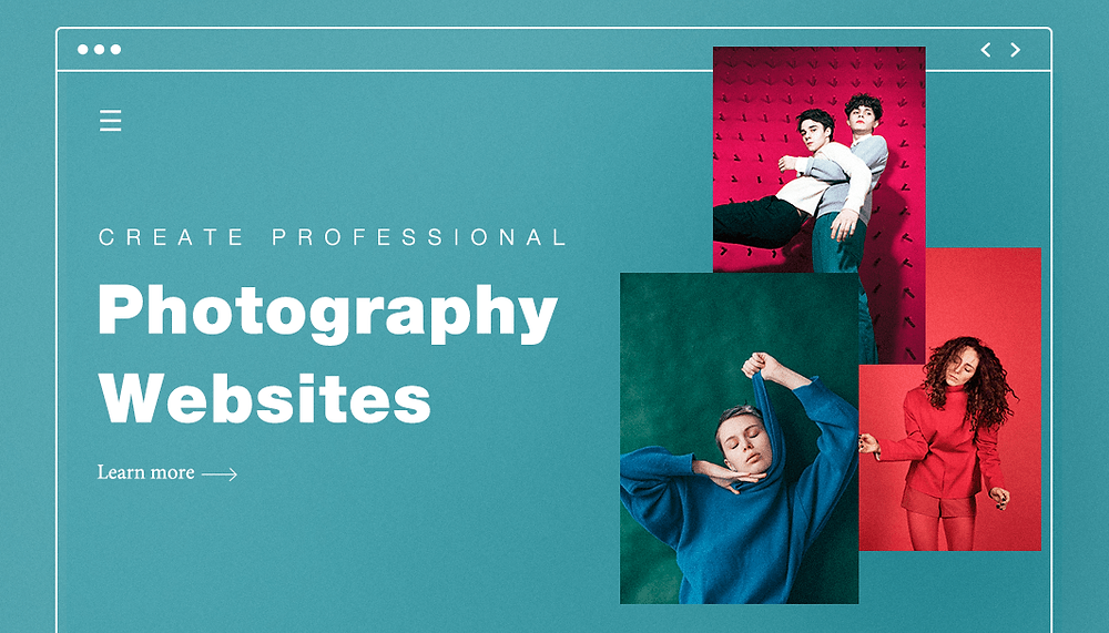 website structure with colorful portraits